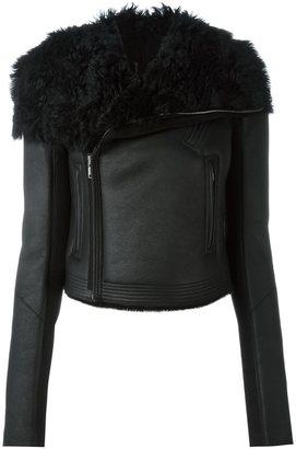 Rick Owens shearling biker jacket $3,864 thestylecure.com