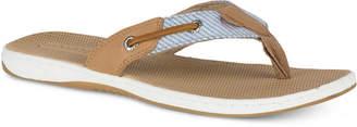 Sperry Women's Seafish Striped Flip Flops