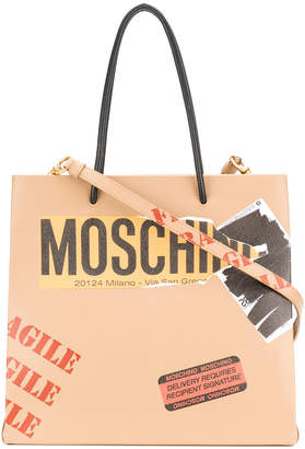 Moschino logo shoulder bag