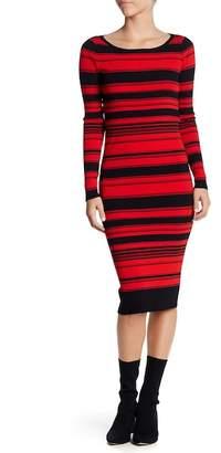 BB Dakota Dunn Stripe Knit Midi Dress
