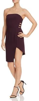 Amanda Uprichard Chrysler Strapless Asymmetric Cutout Dress