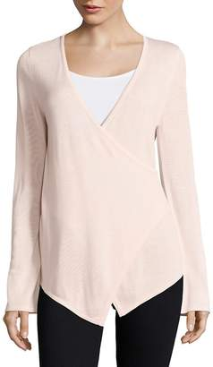 Bobeau B Collection by Women's Faux Wrap Sweater