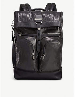 Tumi Alpha Bravo London roll-top nylon backpack