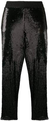 Gaelle Bonheur side-stripe embellished trousers