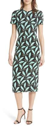 Diane von Furstenberg Print Body-Con Midi Dress