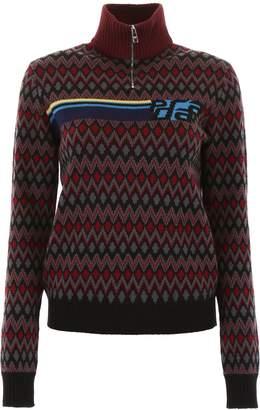Prada Linea Rossa Pullover With Half Zip