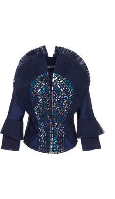 Khosla Jani Oversized Pleated Shoulder Blouse