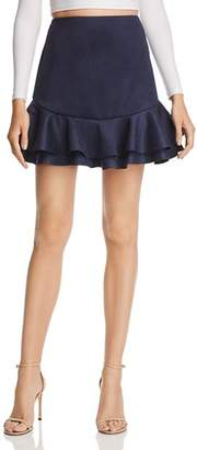 Aqua Ruffled Faux Suede Skirt - 100% Exclusive
