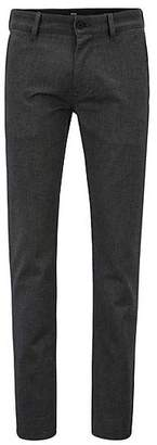 HUGO BOSS Slim-fit trousers in two-tone stretch cotton