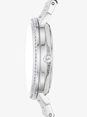 Michael Kors Jaryn Pave Silver-Tone Watch
