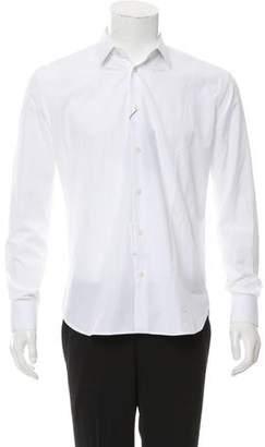 Saint Laurent Woven Button-Up Shirt w/ Tags