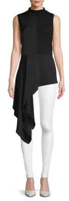BCBGMAXAZRIA Asymmetric Sleeveless Top