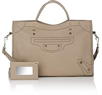 Balenciaga Women's Blackout City Leather Bag - Gray