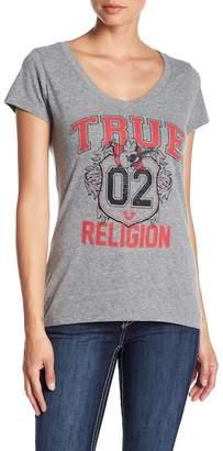 True Religion True Crest Rhinestone Embellished Tee