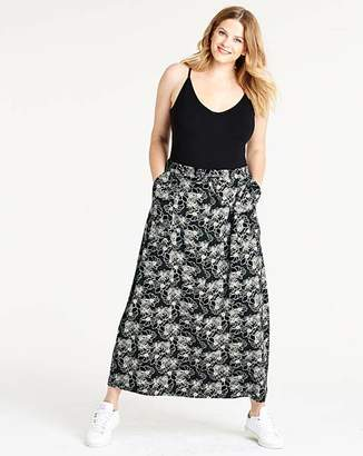 887862a03a Petite Floral Print Easy Care Linen Mix Maxi Skirt