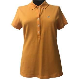 Lacoste Orange Cotton Top for Women