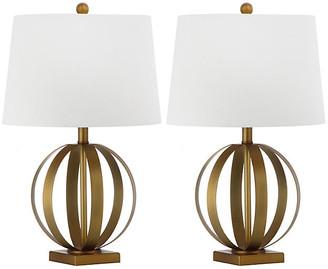 One Kings Lane Set of 2 Euginia Sphere Table Lamp - Gold