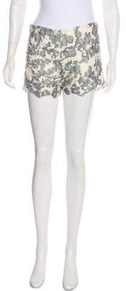 Tory Burch Embroidered Mid-Rise Shorts