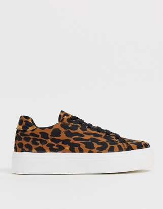 e9225c058 Asos Design DESIGN Day Light chunky lace up sneakers in leopard print