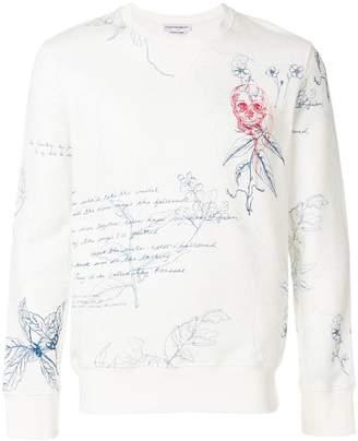 Alexander McQueen Letters from India print sweatshirt