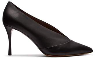 Tabitha Simmons Strike Pointed Toe Leather Pumps - Womens - Black