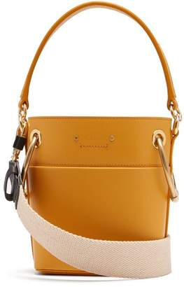 Chloé Roy Mini Leather Bucket Bag - Womens - Yellow