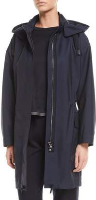 Loro Piana Techno-Wool Hooded Anorak Coat