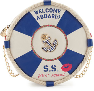 Betsey Johnson Welcome Aboard Crossbody Bag, Multi $70 thestylecure.com