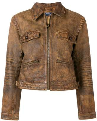 Polo Ralph Lauren zipped leather jacket