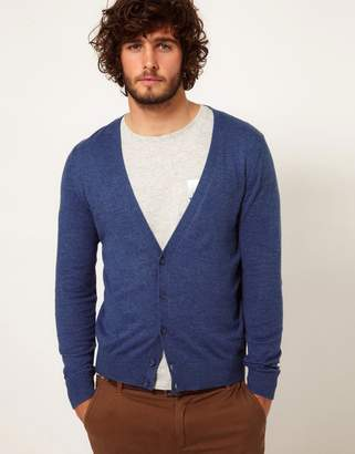 Asos Design Cardigan with Elbow Patches