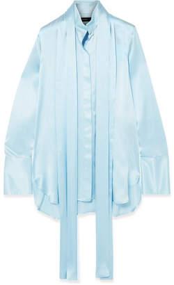 Ellery Oversized Pussy-bow Silk-satin Blouse