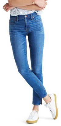 Women's Madewell 9-Inch High-Rise Skinny Jeans: Side-Slit Edition $128 thestylecure.com