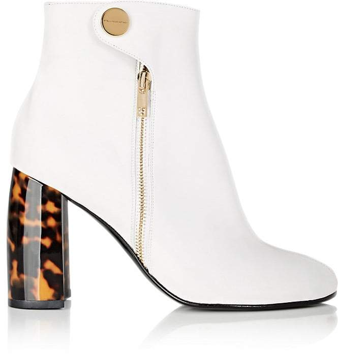 Stella McCartney Women's Tortoiseshell-Heel Faux-Leather Ankle Boots