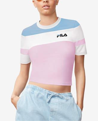 Fila Maya Colorblocked Cropped T-Shirt