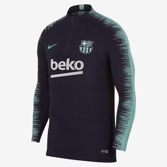 Nike FC Barcelona VaporKnit Strike Drill Men's Long Sleeve Soccer Top