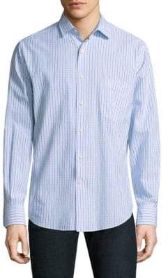 Peter Millar Checkered Cotton Button-Down Shirt