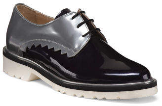 Made In Spain Leather 2 Tone Flat Laceup Oxford