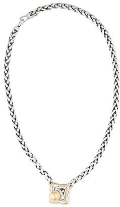 David Yurman Sterling Silver and 18K Yellow Gold Star Necklace