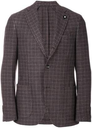 Lardini patterned single breasted blazer