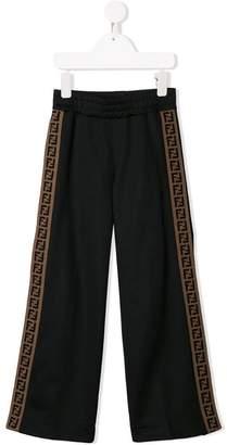 Fendi FF stripe track pants