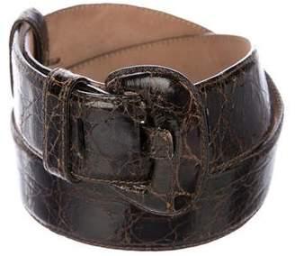Saks Fifth Avenue Crocodile Waist Belt