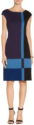St. John Color Block Milano Knit Dress