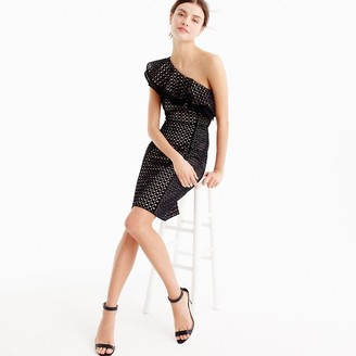 Petite one-shoulder dress in eyelet $158 thestylecure.com