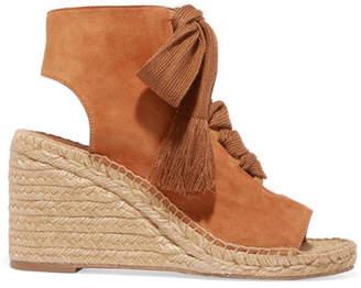 Chloé Harper Lace-up Suede Espadrille Wedge Sandals