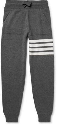 Thom Browne Tapered Striped Cashmere Sweatpants $1,290 thestylecure.com