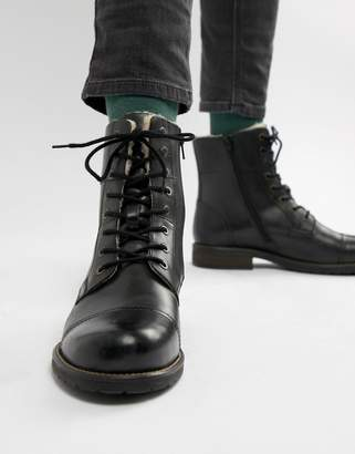 fe6311ceab0 Men's Black Cap Toe Boots - ShopStyle UK