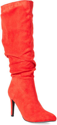Gc Shoes Red Extrada Slouchy Tall Boots