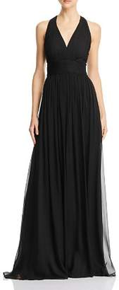Aidan Mattox Lace-Inset Chiffon Gown - 100% Exclusive