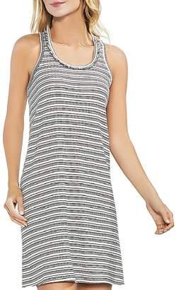 Vince Camuto Fringe Stripe Ribbed Tank Dress