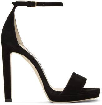 Jimmy Choo Black Suede Misty 120 Sandals